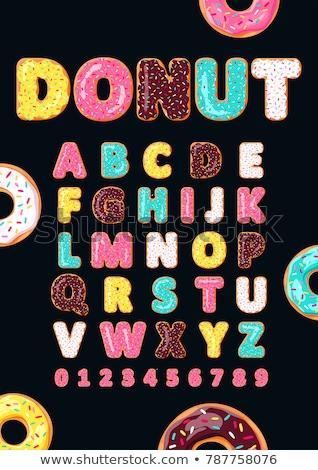 Vector donuts illustratie label menu donut Stockfoto © tele52
