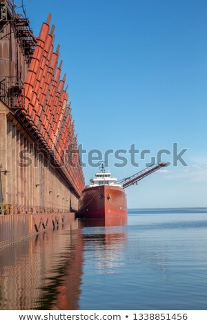 Blue freighter bow vertical Stock photo © bobkeenan