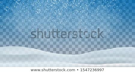 Natal queda de neve nuvens fundo céu inverno Foto stock © romvo