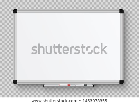 white board with information vector illustration foto stock © robuart
