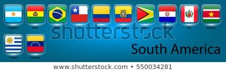 Chile · bandeira · branco · grande · conjunto · coração - foto stock © colematt