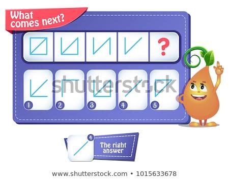 Gioco puzzle educativo ragazzi adulti sviluppo Foto d'archivio © Olena
