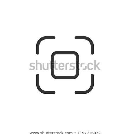 Nametag icon. Interface social media. Function to add friends. Stock photo © AisberG