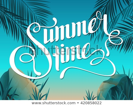 text summer time in a stone on the beach stock photo © nito