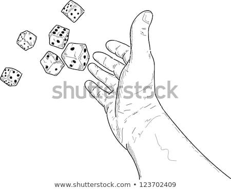 Hand Rolling The Dice Drawing Stock photo © patrimonio