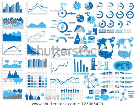 Kereskedés infografika elemek gyűjtemény téma tőzsde Stock fotó © ConceptCafe
