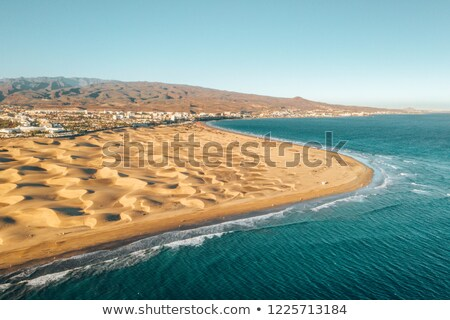 Stock photo: sand dunes of Maspalomas in Gran Canaria, Spain