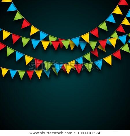 Falling Confetti Festa Junina Banner Design Stock fotó © articular