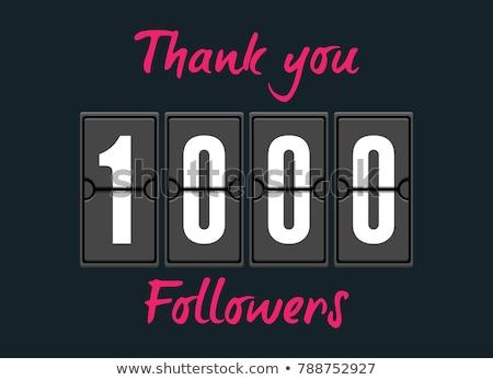 Teşekkür ederim 1000 karalama şablon iş arka plan Stok fotoğraf © SArts