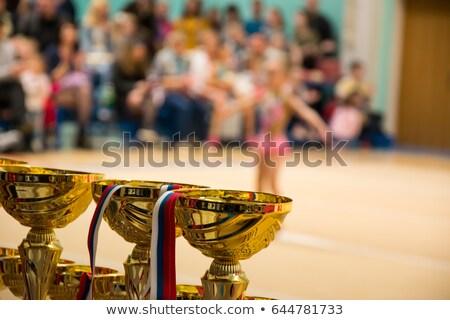 Stock fotó: Nyertes · ritmikus · torna · verseny · portré · csinos