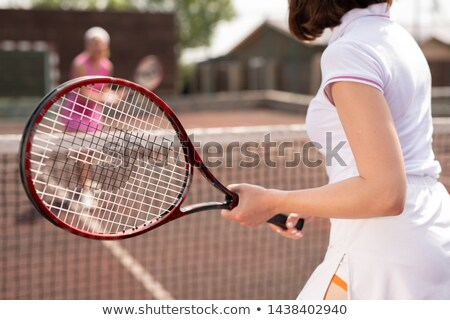 Jonge witte tennisracket bal Stockfoto © pressmaster