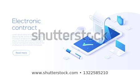 electronic contract concept vector illustration stock photo © rastudio