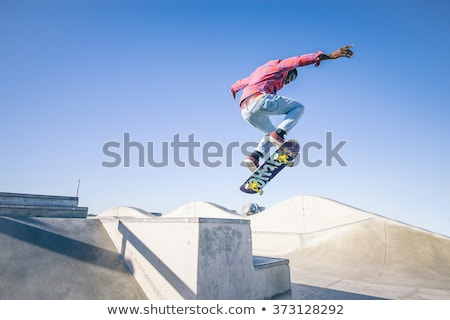 Extreme Teen Sport, Skateboarding and Skate Park Stock photo © robuart