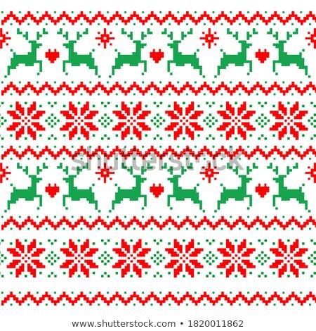 örgü Noel yılbaşı model vektör Stok fotoğraf © Margolana