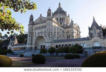 Bazilika Normandia Franciaország függőleges kilátás templom Stock fotó © tilo