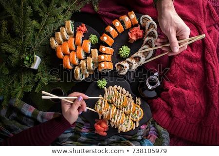 Lezzetli taze sağlıklı malzemeler Noel zencefilli çörek Stok fotoğraf © dash