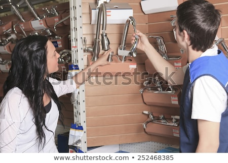 client portrait in home appliance shop supermarket store Stock photo © Lopolo