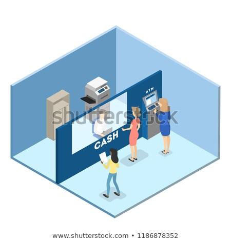 Banco consultor serviços publicidade cartaz vetor Foto stock © pikepicture