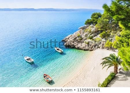 Ver costa mar Croácia panorâmico montanhas Foto stock © borisb17