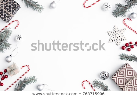 Navidad árbol de navidad blanco diseno invierno rojo Foto stock © Melnyk