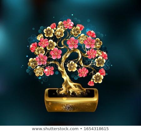 盆栽 桜 宝石 装飾された ストックフォト © blackmoon979