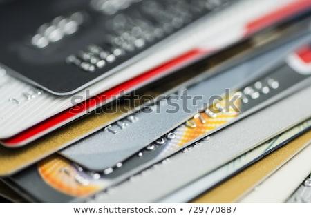 Boglya tarka hitelkártyák gyűjtemény fehér üzlet Stock fotó © hamik