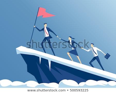 Trabalho em equipe vetor metáfora negócio motivação Foto stock © RAStudio