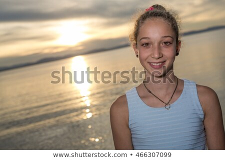 Portrait Of Teen Age Vacation Relaxing Seaside Great Time Zdjęcia stock © Lopolo