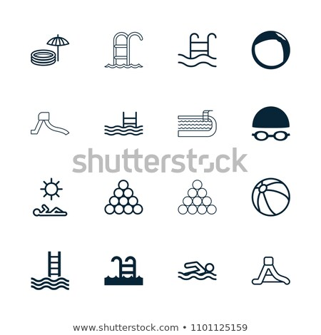 pool ladder icon vector outline illustration Stock photo © pikepicture
