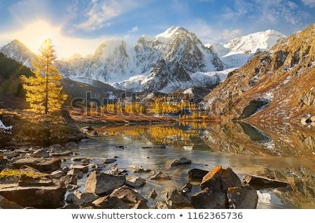 Wasserfall Berge Bereich Westen Russland Stock foto © olira