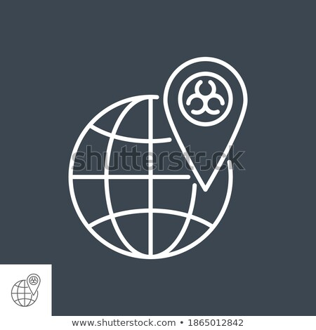 Outbreak virus world related vector thin line icon. Stock photo © smoki