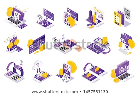 Gadget And Device Isometric Icons Set Vector Stock photo © pikepicture