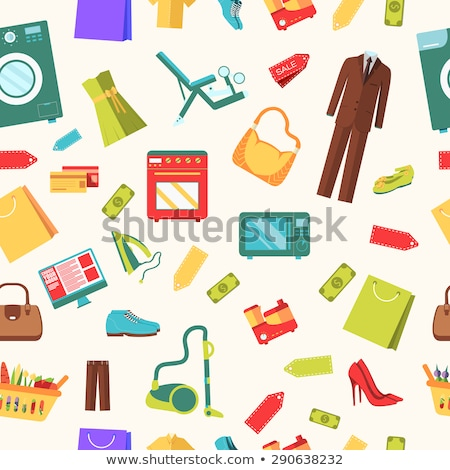 Boutique with Jewelery and Clothes Online Vector Stock photo © robuart