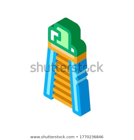 裁判官 塔 椅子 アイソメトリック アイコン ベクトル ストックフォト © pikepicture