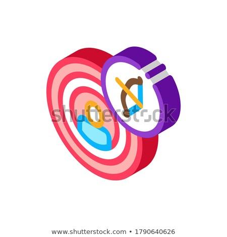 Humanismo centro alvo isométrica ícone vetor Foto stock © pikepicture
