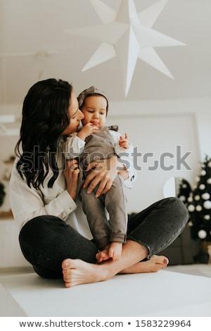 mamãe · filha · família · bebê · retrato · brinquedo - foto stock © justinb