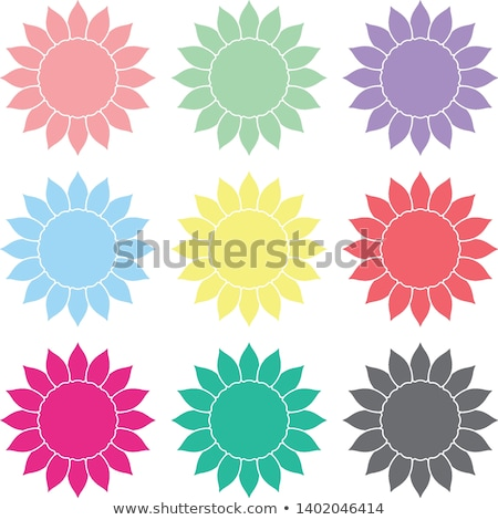 Stock photo: Various colorful abstract icons, Set 11