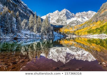 Colorado lake in winter scenery Stock photo © PixelsAway
