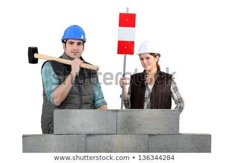 Mand and woman with hammer Stock photo © photography33