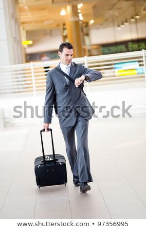 企業 · ビジネスマン · 待って · 時間 · 座って · 待合室 - ストックフォト © photography33