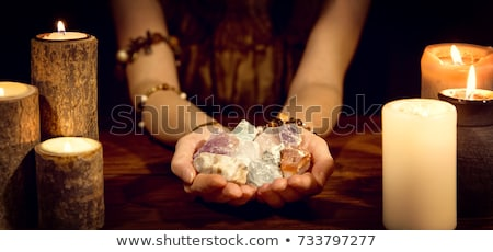 Mystique pierres formation coucher du soleil Thaïlande nature Photo stock © smithore