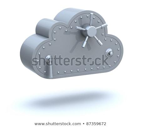 nuvem · trancar · 3D · ícone · do · computador · isolado · negócio - foto stock © tashatuvango