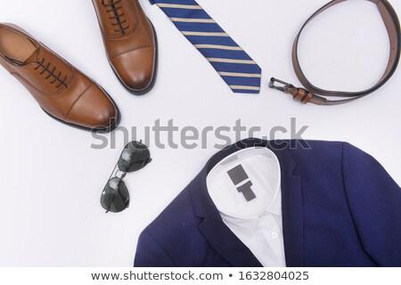 Stock photo: Man wearing sunglasses and stripy sunglasses