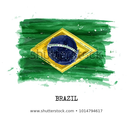 Grunge flag of Brasil Stock photo © stevanovicigor
