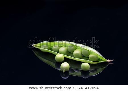 綠色 · 種子 · 打開 · 蔬菜 · 白 - 商業照片 © erierika