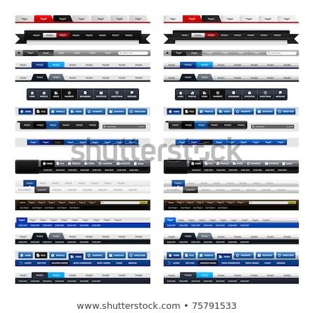 Glossy navigation bars, buttons Stock photo © fenton