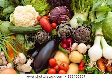 produire · organique · rouge · oignons · écran - photo stock © ozgur