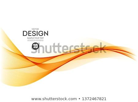 Orange vagues coloré 3D rendu forme d'onde Photo stock © ErickN