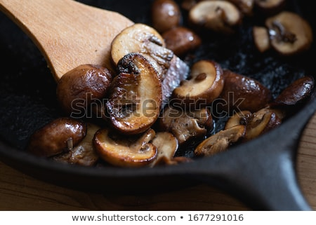 roasted mushrooms stock photo © zhekos
