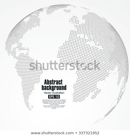 World Map Dimensional Design Stock photo © Lightsource